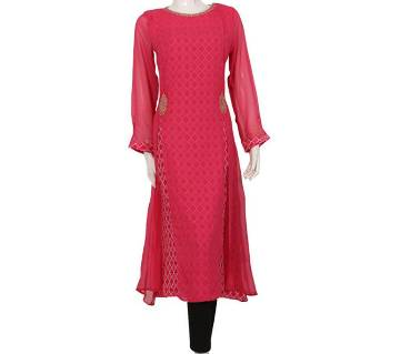 Indian Stitched Georgette Long Kurti