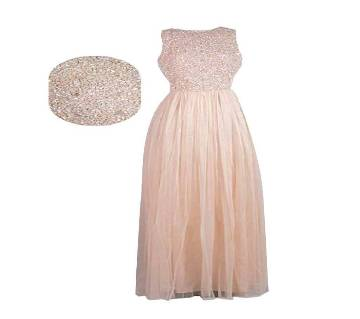 Picasso Pink Embellished Maxi Dress