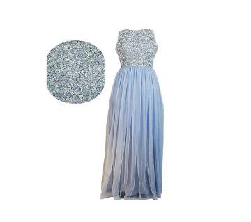 Picasso Sky Embellished Maxi Dress
