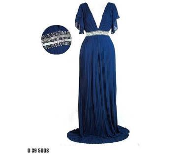 Sienna Embellished Navy Maxi Dress