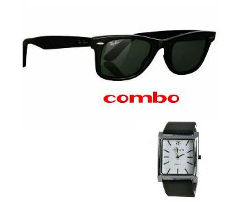 Ray Ban gents sunglass+Tissot Gents Watch Combo Offer