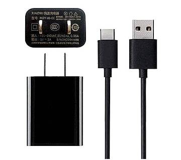 Xiaomi 2a Fast Charger with Type-C Cable - Black