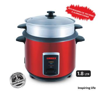 Linnex Rice Cooker LNX-RCO-1.8L Red