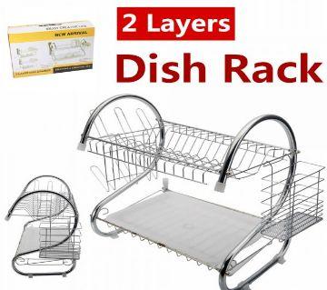 2 Layer Kitchen Rack - Silver