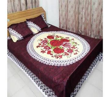 Home Tex Double Size Cotton Bed-sheet