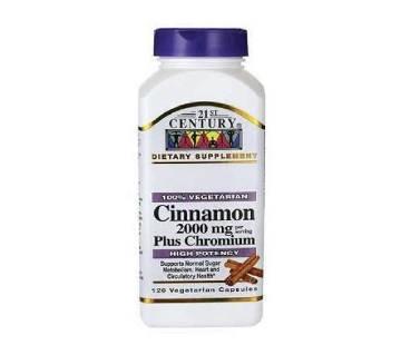 Cinnamon ডায়াবেটিস নিয়ন্ত্রক ক্যাপসুল - ১২০পিস (U.S.A)