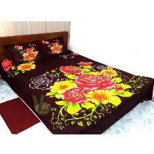 Double Size Cotton Bedsheet Set
