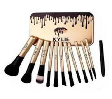 Kylie Makeup Cosmetic Brush Kit -Metal Box 12PCs
