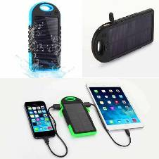 Solar charger power bank with light