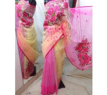 Half Silk Jamdani Sharee