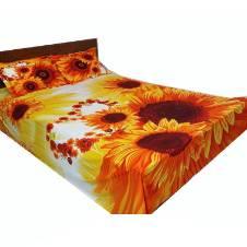 Cotton double bed-sheet set