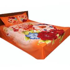 Cotton double bed-sheet set