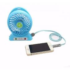 Portable USB Rechargeable Fan and Power Bank