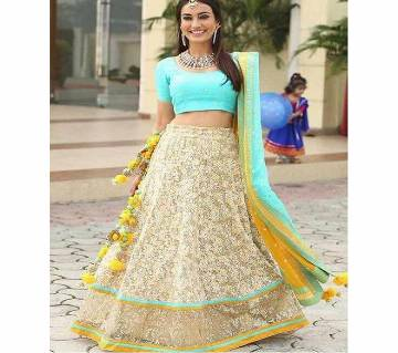 Semi-Stitched Georgette Embroidery Lehenga (Copy)