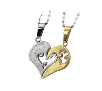 Valentine Heart shaped Couple Pendant