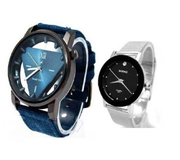 Fastrack Gents wirst watch(Copy) + Bariho Ladies wrist watch(Copy) Valentine combo offer