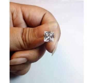 18k gold square shape জিরকন স্টোন নোজ পিন