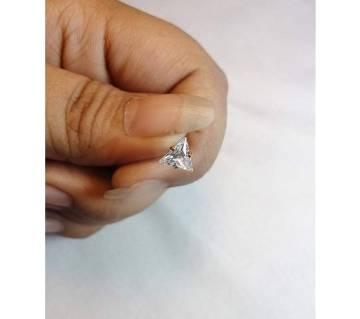 18k Gold Triangle Shape জিরকন স্টোন নোজ পিন
