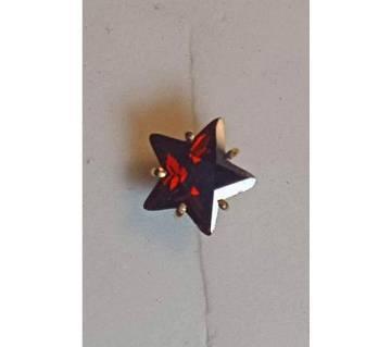 18k gold star shape জিরকন স্টোন নোজ পিন