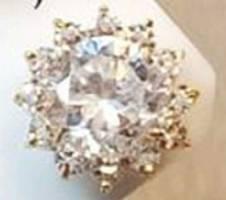 18K গোল্ড 13 STONES ডায়মন্ডকাট জিরকন নোজ পিন বাংলাদেশ - 6564723