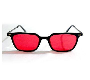 Red Glass Black Frame