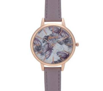 Mantaray (UK) - Womans Purple Butterfly Analogue Watch