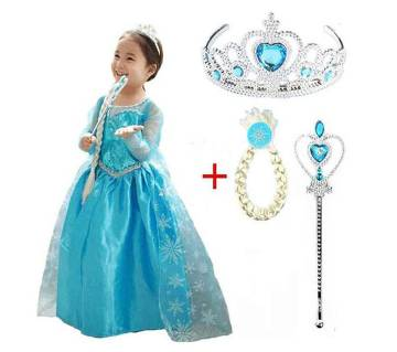 Elsa Frozen Dress and Accessories Set (3 to 10 Years)