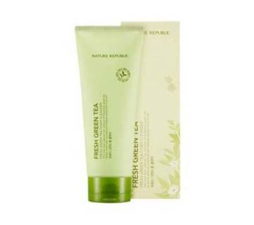 FRESH GREEN TEA FOAM CLEANSER, Nature Republic (Korea)