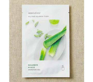 Innisfree Korea, My Real Squeeze Mask  Aloe 1 Sheet 20 ml