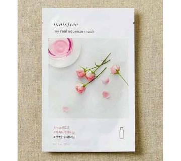 Innisfree Korea, My Real Squeeze Mask Rose  1 Sheet 20 ml