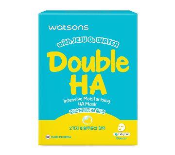 Watsons Double HA  Moisturising Facial Mask-10Pcs-Korea