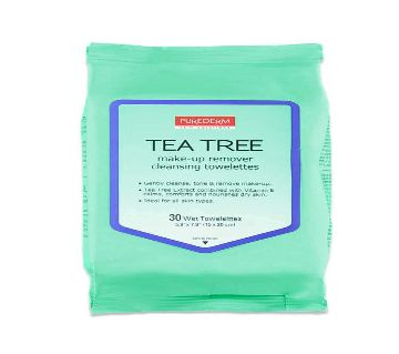 PUREDERM Tea Tree Make-up Remover Cleansing Towelettes 30s