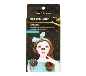 WATSONS Charcoal Nose Pore Strip - Korea