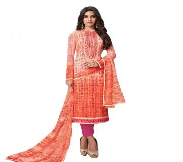 Indian Unstitched Cotton Embroidery Three Piece