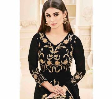 Indian Unstitched Georgette Embroidered Long Gown Suit