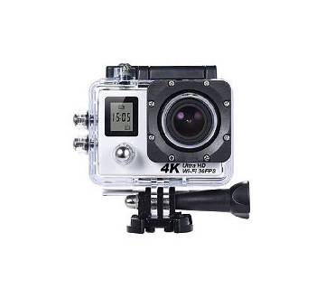4K Wi-Fi Action Camera - Silver and Black