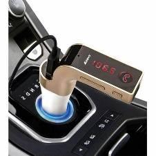 CAR G7 Bluetooth Car Kit FM Transmitter/ MP3 Player USB Charger - Rose Gold