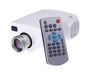 Mini Multimedia LED টিভি প্রজেক্টর - White