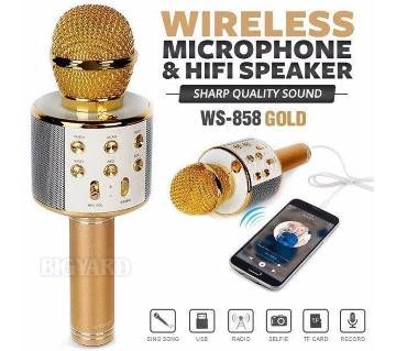 WS-858 Wireless Bluetooth HIFI কারাওকে মাইক্রোফোন