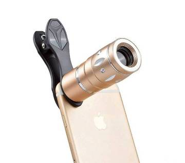 10X Universal Mobile Phone Zoom Lens - Black