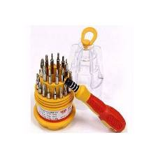 31 in 1 Multifunction Electron Screwdriver Tools - Yellow