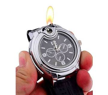 Analog Artificial Leather Watch for Men - Black