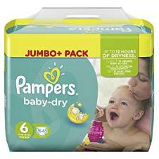 Pampers Baby Dry Size 6 (13 - 18kg)  Jumbo Pack - UK