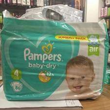 Pampers Jumbo pack Size 4 (9-14 kg) - UK