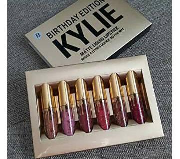 Kylie Liquid Matte Lipstick - 6 pcs