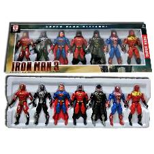 SUPER HERO FIGURE TOY SET