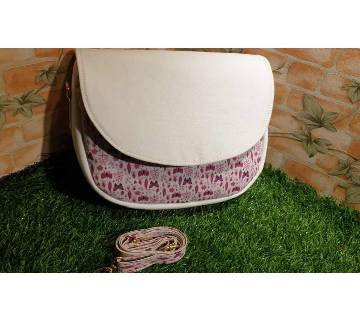 Artificial Leather and Fabric mix classy Saddle Bag