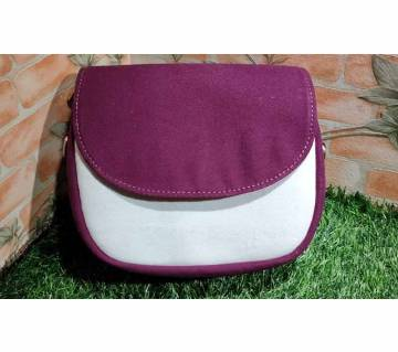 Purple Color Fabric Saddle Bag