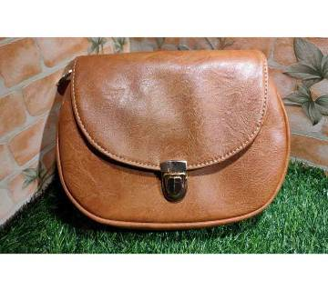 Brown Color Cross body Saddle Bag