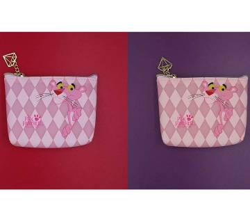 Pink panther coin mini purse bag